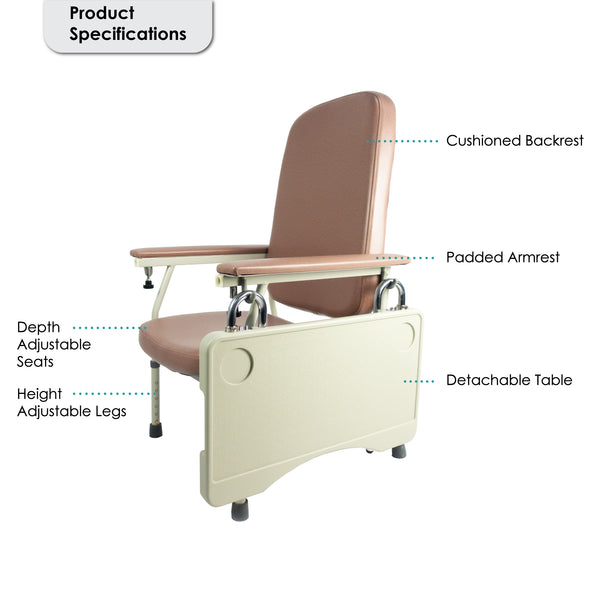 Geriatric Chair with Parts Labelled