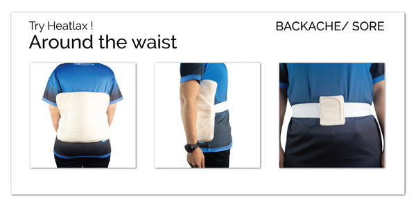 Heating Pad with Waist Strap