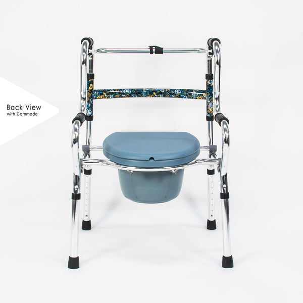 Walking Frame assembled with Commode Chair