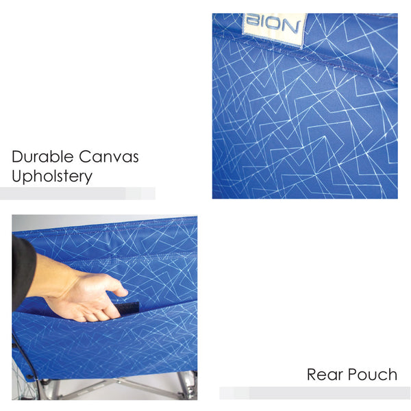 Durable Canvas Upholstery and Rear Pouch