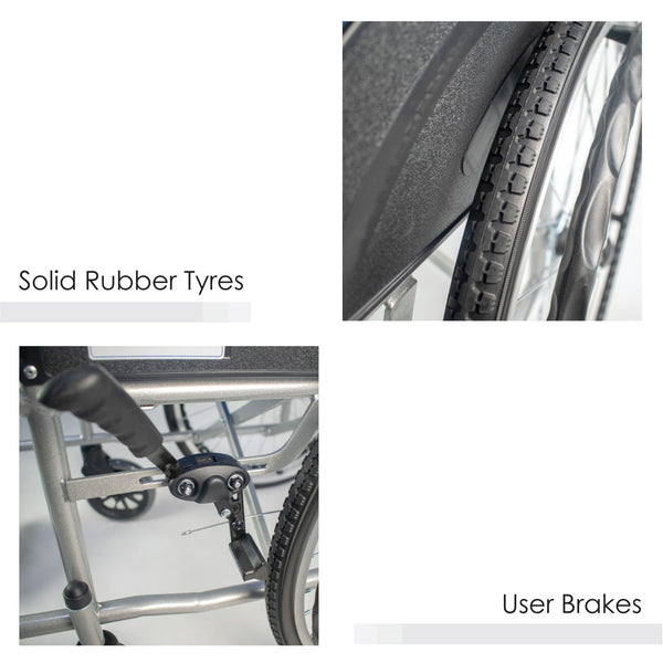 Solid Rubber Tyres and User Brakes