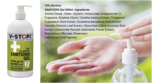 Ingredients of V-Stop Hand Sanitizer