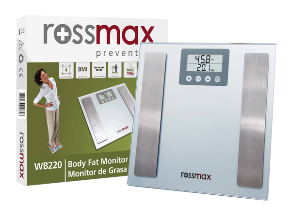 ROSSMAX BMI Body Fat Weighing Scale WB220 With Box
