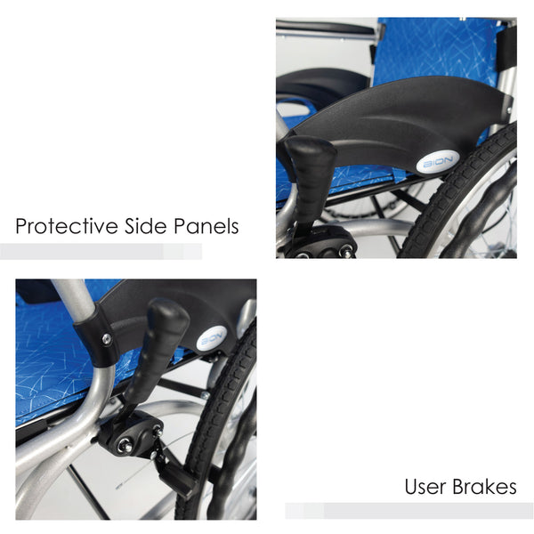 Protective Side Panels & User Brakes
