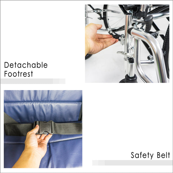 Detachable Footrest and Safety Belt