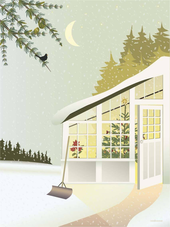 Christmas in the Greenhouse - juleplakat fra ViSSEVASSE