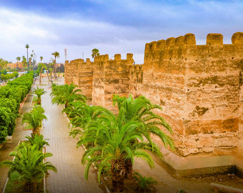 The city walls of Taroudant in Morocco