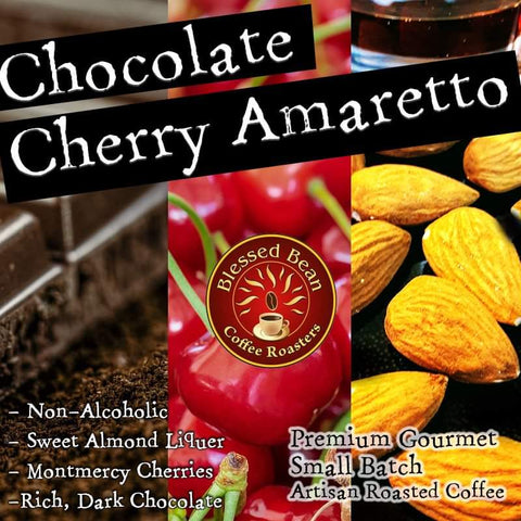 Chocolate Cherry Amaretto flavored coffee