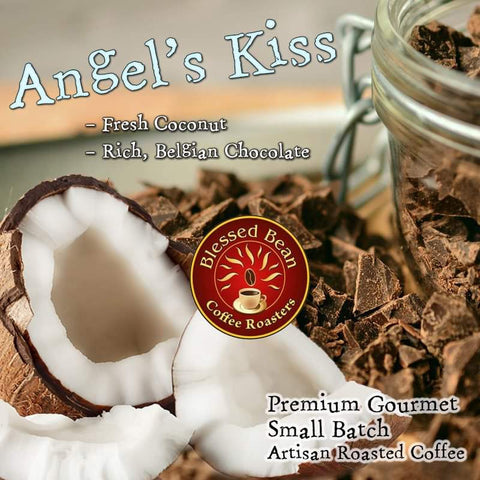 Angel's Kiss (Chocolate Coconut) flavored coffee