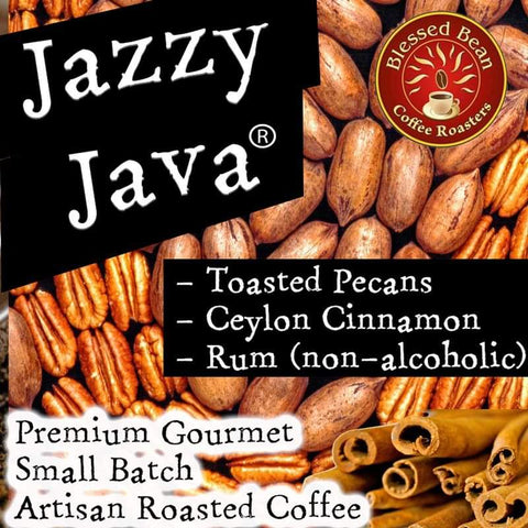 Jazzy Java Flavored Decaf (toasted pecan, cinnamon, & rum)