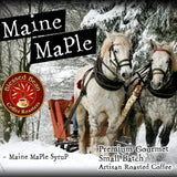Maine Maple flavored coffee