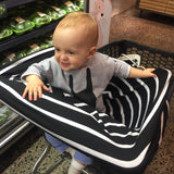 Black and White Stripe Baby Cover