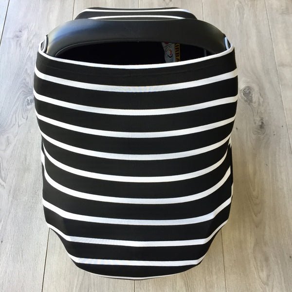 NuMoo baby cover - black and white stripe