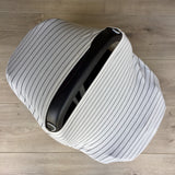 NuMoo baby cover - white and thin black stripe