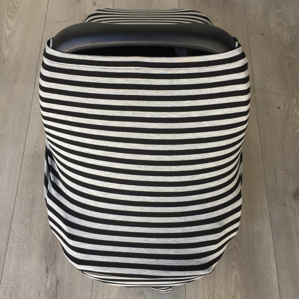 Grey and Black Stripe Baby Cover