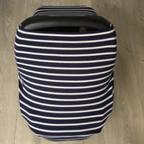 Navy and White Stripe Baby Cover