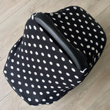 NuMoo baby cover - black with white dots