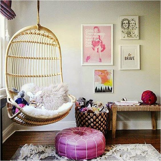 Hanging Chair Feature Tween Teen Bedroom