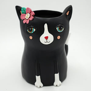 Black Cat Planter - Large