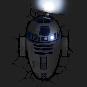 Star Wars - R2D2 3D Wall Light tween and teen