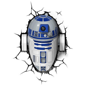 Geek X Night Lights & Ambient Lighting Star Wars - R2D2 3D Wall Light 816733020631 tween and teen