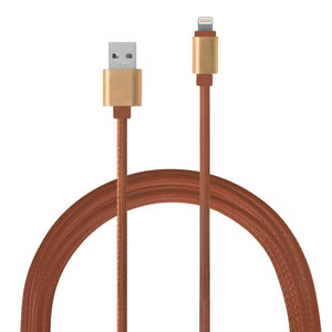 IS Gifts Mobile Phone Accessories Tan / Micro USB (Android) Android/IOS PU Leather USB Charging Cable - 2mtr tween and teen