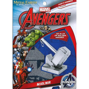Metal Earth Scale Model Kits Metal Earth Avengers Thor's Hammer 032309033205 tween and teen