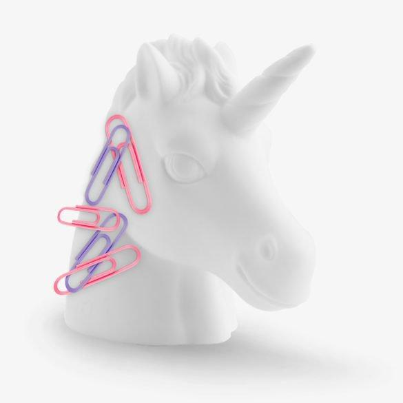 Unicorn Magnetic Paperclip Holder