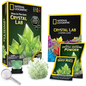 National Geographic Educational Games Glow in the Dark Crystal Lab - Green 851456006005 tween and teen