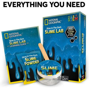 National Geographic Educational Games Glow in the Dark Slime Lab - Blue 0513843315502 tween and teen