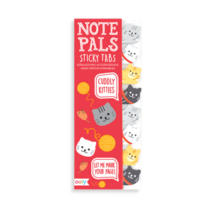 Ooly Stationery Cuddly Kitties Note Pals - Sticky Tabs tween and teen