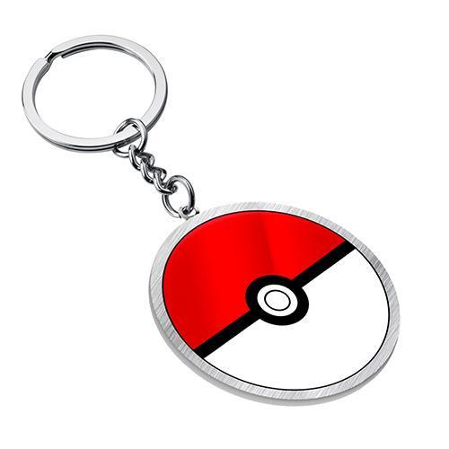 Poke Ball Metal Keyring