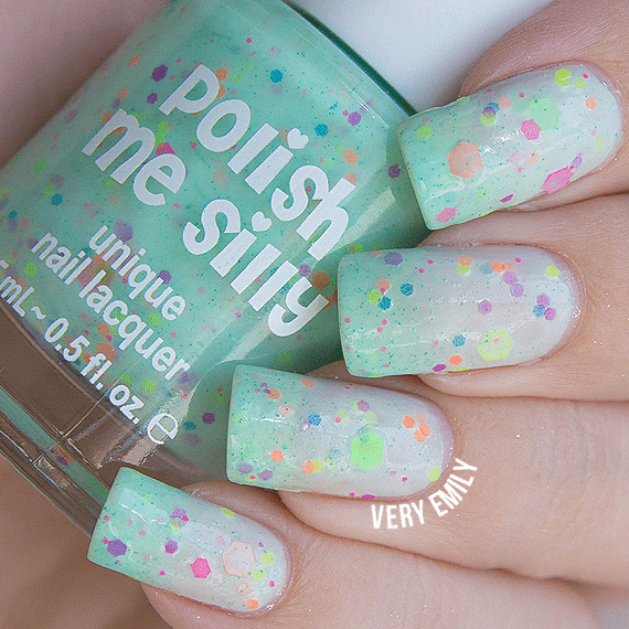 Polish Me Silly Nail Polishes Minty Madness Thermal Nail Polish - 5 FREE Formulation tween and teen