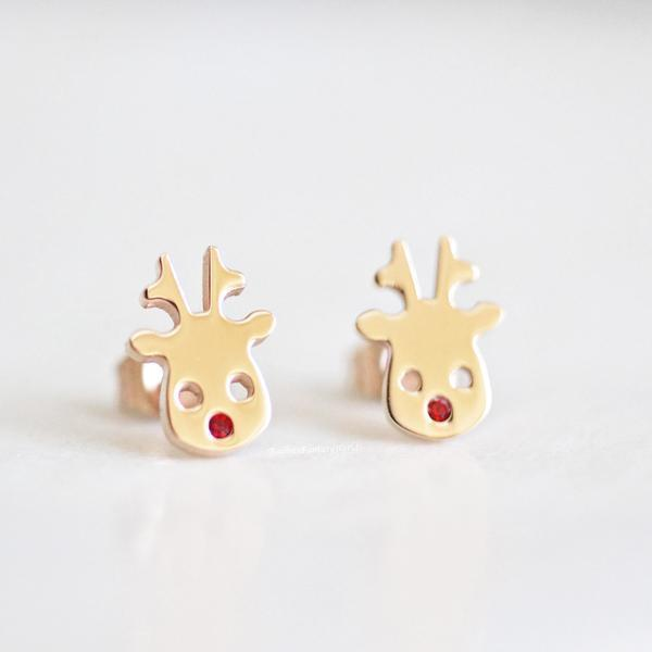 Rudolf Reindeer Stud Earrings