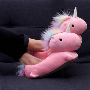 Smoko Now Nightwear & Loungewear Pink Unicorn USB Heated Slippers 855476004782 tween and teen