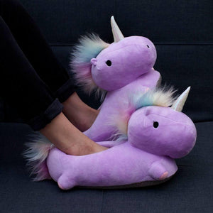 Smoko Now Nightwear & Loungewear Purple Unicorn USB Heated Slippers 855476004850 tween and teen