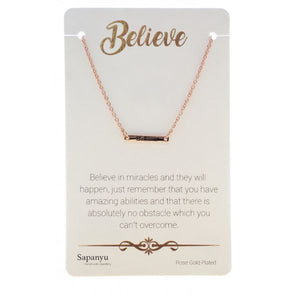 Believe - Sentiment Necklace
