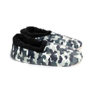 Splosh Slippers Mens Small Boys Grey Camo Slumbies tween and teen