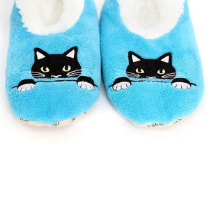 Splosh Slippers Slumbies Peek-a-Boo Cat Slippers tween and teen