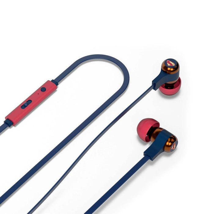 DC Comics Superman Wired Swing Earphones with Remote and Mic