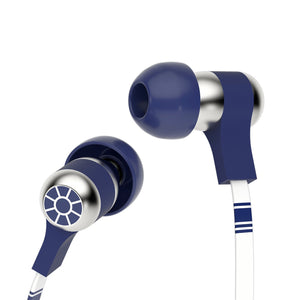 Tribe Headphone & Headset Star Wars R2D2 Wired Swing Earphones with Remote and Mic 8054392653988 tween and teen