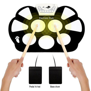 Tween to Teen Tech Portable Roll-up Electronic Drum Kit 0720252999517 tween and teen