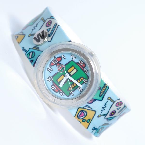 Watchitude Watches Watchitude Slap Watch - Robots tween and teen