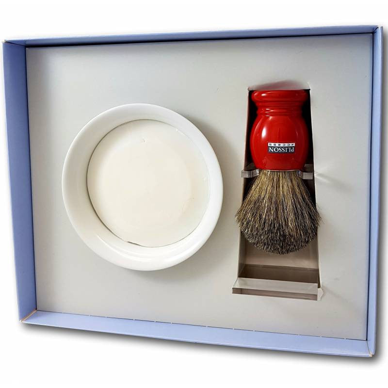 Plisson - Coffret Rasage - Rouge