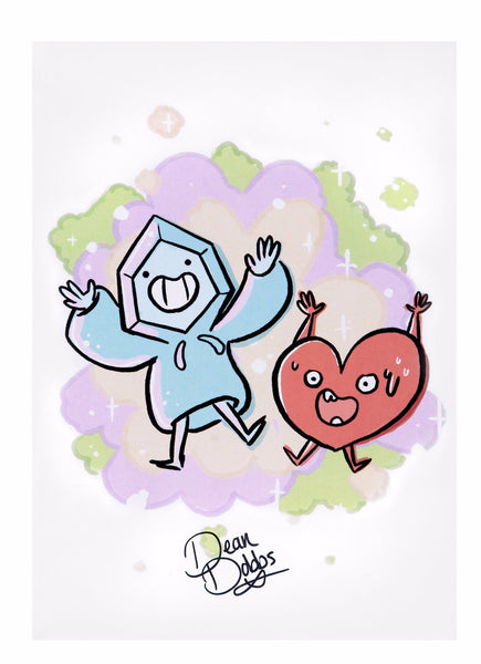 Chill One & Heart Guy - Signed Print