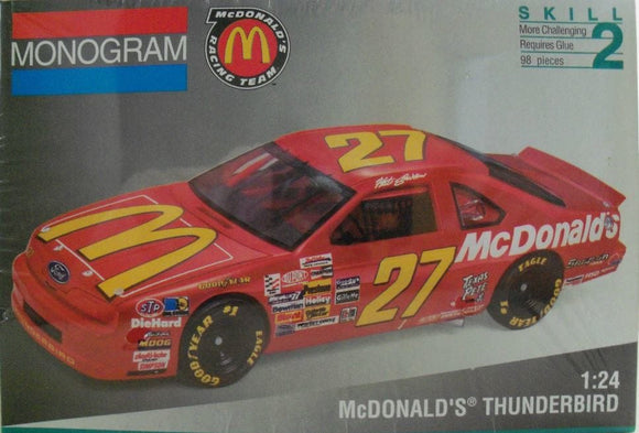 Monogram #27 McDonald's Thunderbird Plastic Model Kit (Nascar Vintage)