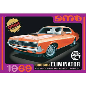 AMT912 1969 Mercury Cougar - Orange Plastic Model Kit