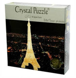 3D Gold Eiffel Tower Crystal Puzzle