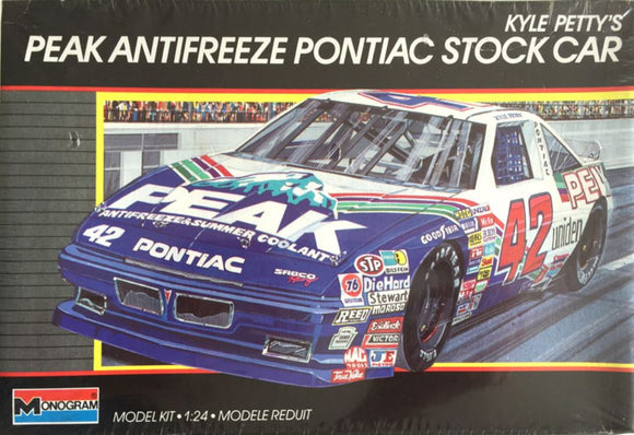 Monogram #42 Kyle Petty's Peak Pontiac Stock Car Model Kit (Nascar Vintage)