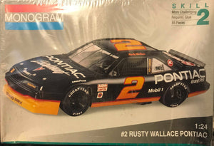Monogram #2 Rusty Wallace Pontiac Plastic Model Kit (Nascar Vintage)
